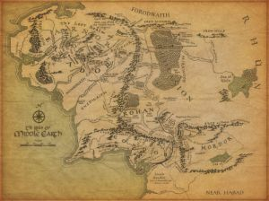 Map of Middle Earth - JRR Tolkein
